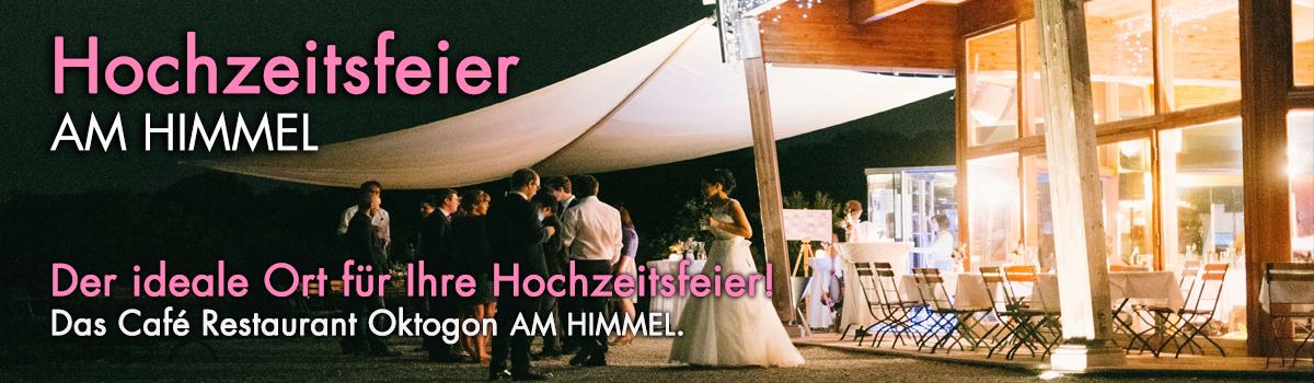 Hochzeitsfeier Im Restaurant Mit Panoramablick Am Himmel